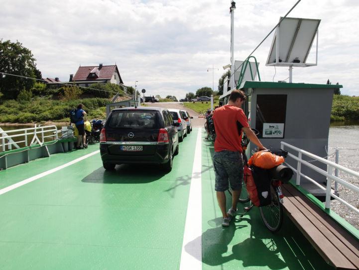 Ausschiffung mit Fahrrad ©Zeitfixierer