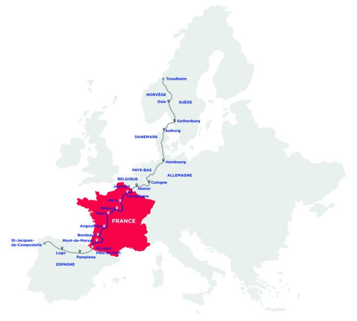 EuroVelo 3 Karte ©La Scandibérique