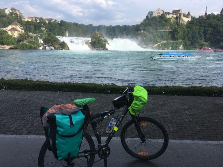 EuroVelo 15 - Rhine Cycle Route at the Rhine Falls, Switzerland